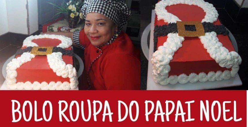 BOLO ROUPA DO PAPAI NOEL