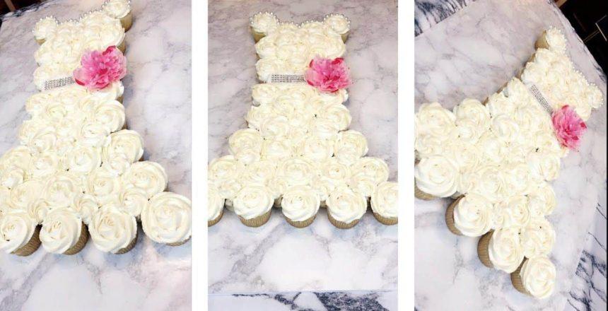 BRIDAL SHOWER CUPCAKE CAKE DRESS