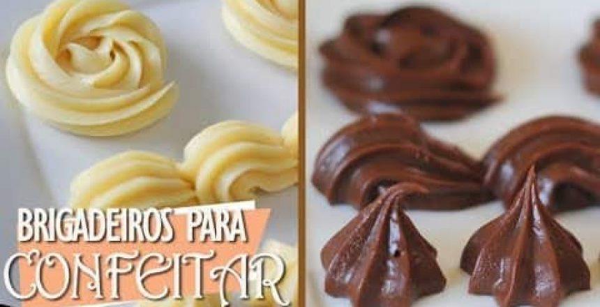 BRIGADEIROS EM PONTO DE BICO PARA CONFEITAR | CHOCOLATE AO LEITE E CHOCOLATE BRANCO | DIKA DA NAKA