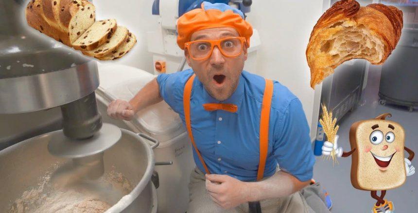 Blippi Visits the Bakery | Learn Healthy Eating for Children