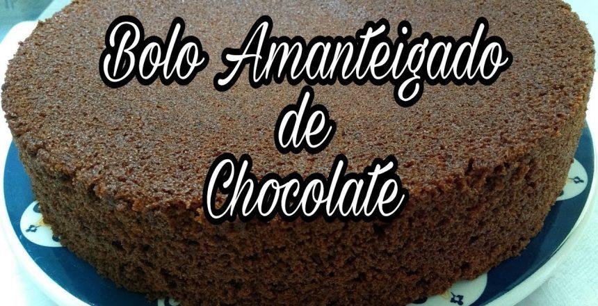 Bolo Amanteigado de chocolate/massa para bolo de pote