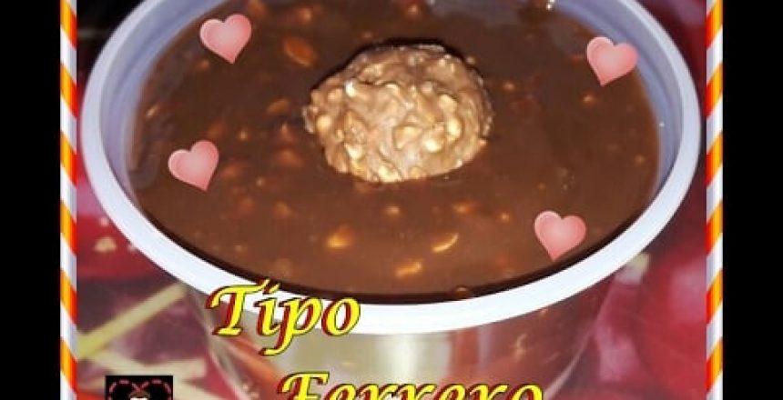 Bolo no pote Tipo FERRERO + Chocolate X Cobertura Fracionada