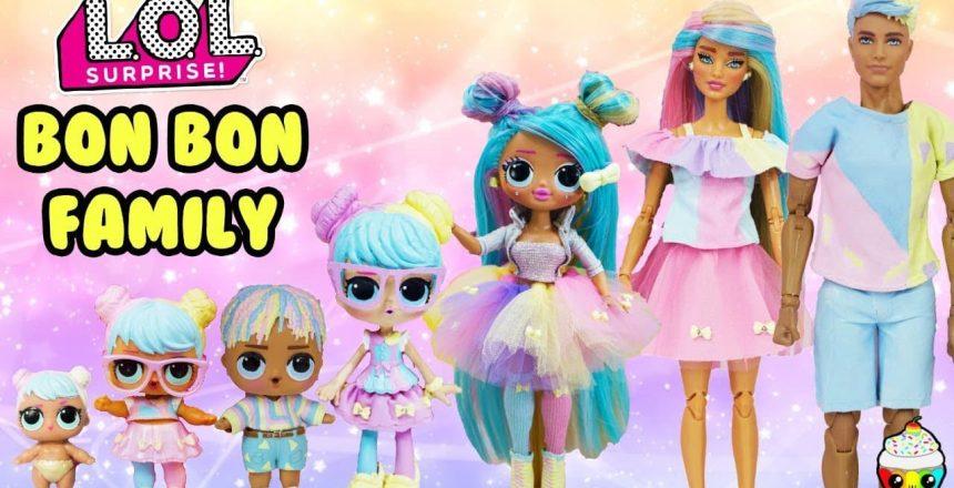 Bon Bon Family DIY Custom Fun Craft With Barbie and Ken Cupcake Kids Club