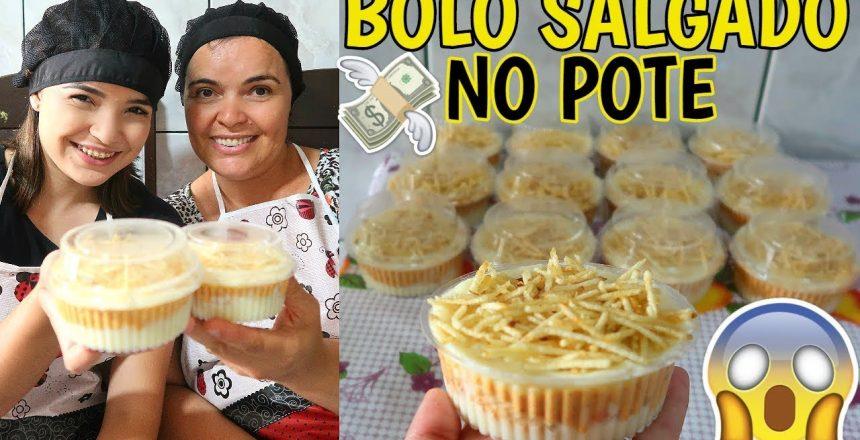 COMO FAZER BOLO SALGADO NO POTE (GANHANDO DINHEIRO EM CASA) ♥ - Bruna Paula