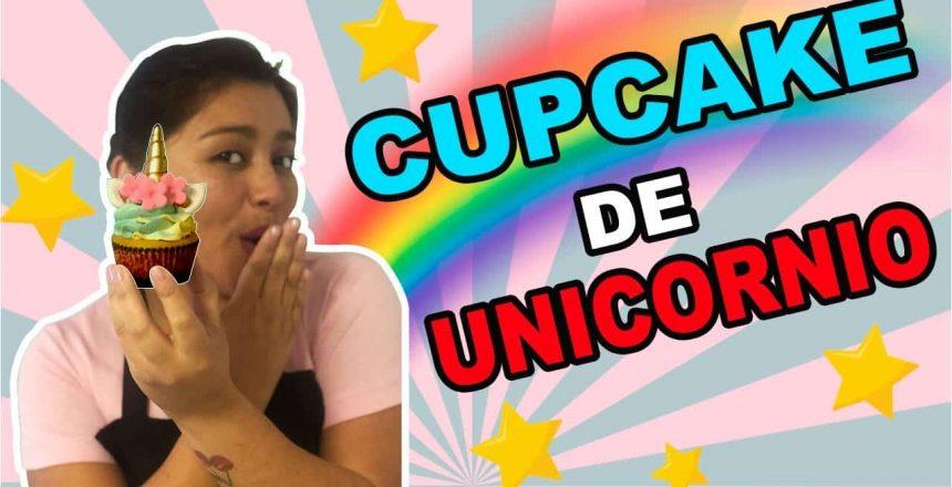 COMO HACER CUPCAKE DE UNICORNIO - FÁCIL