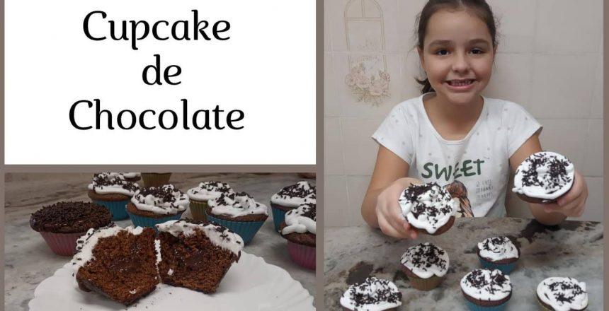 CUPCAKE DE CHOCOLATE (RECEITA DA BEL )