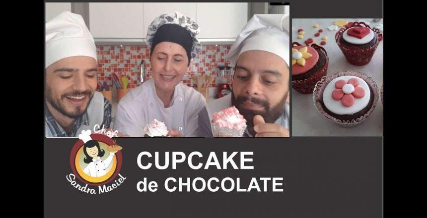 CUPCAKE DE CHOCOLATE SEM GLÚTEN (sem lactose e e sem caseína)!