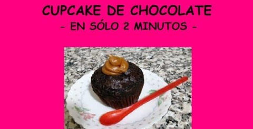 CUPCAKE DE CHOCOLATE  - en sólo 2 minutos -