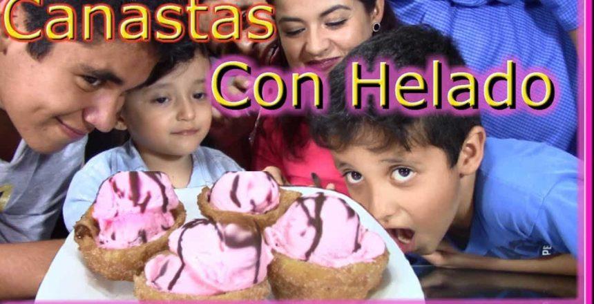 Canastas De Churro Con Helado