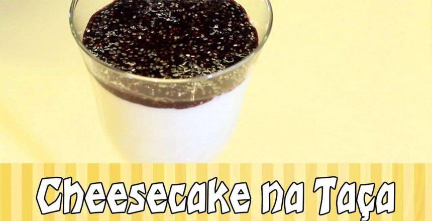 Cheesecake na Taça Low Carb