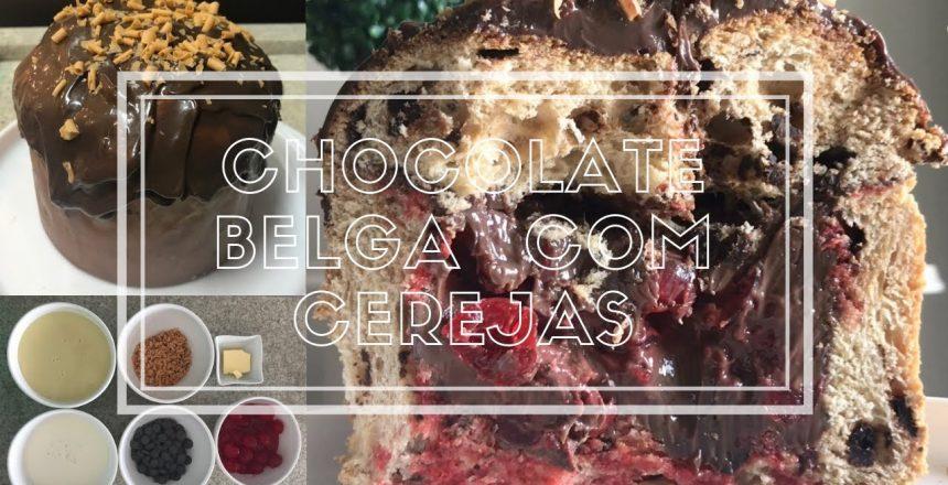Chocotone recheado com cerejas e brigadeiro de chocolate belga 💕 Xuquinha Website