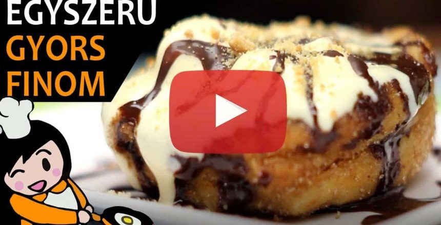 Churros muffin vanília fagyival - Recept Videók