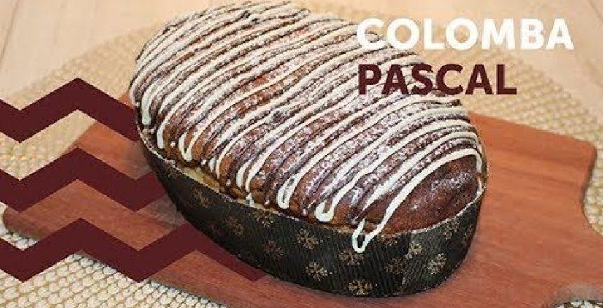 Colomba Pascal de Chocolate com Maracujá