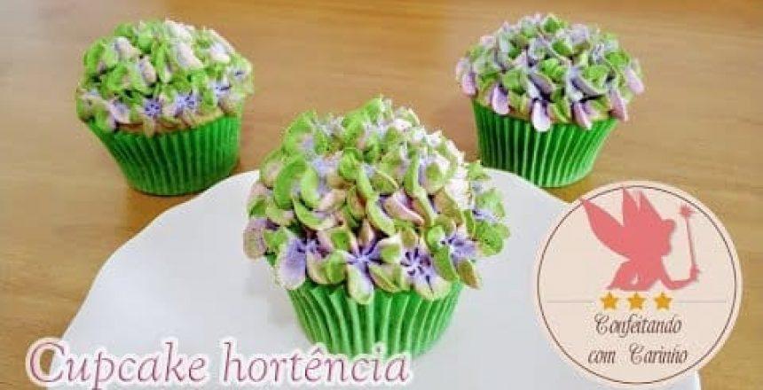 Como fazer cupcake hortência - super simples