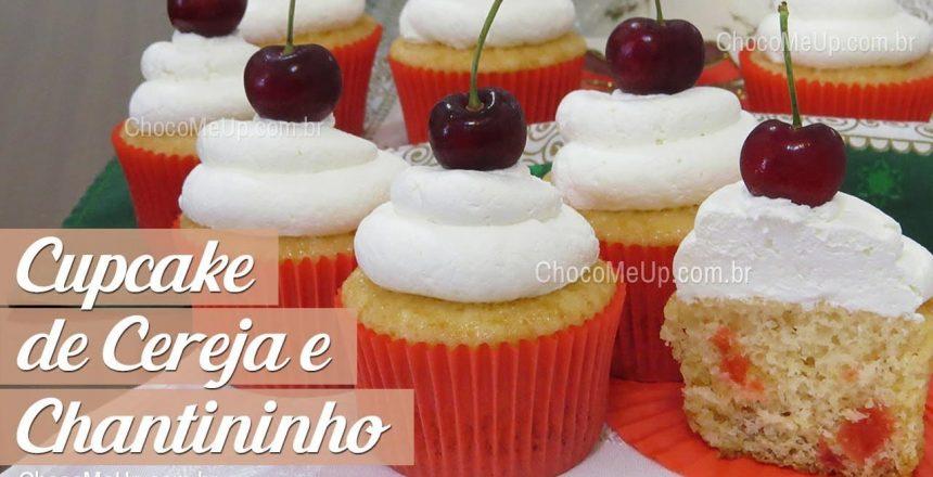 Cupcake de CEREJA com cobertura de CHANTININHO - Receita