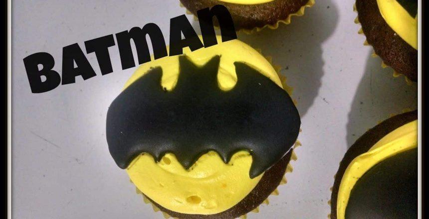 Cupcake do batman pratico