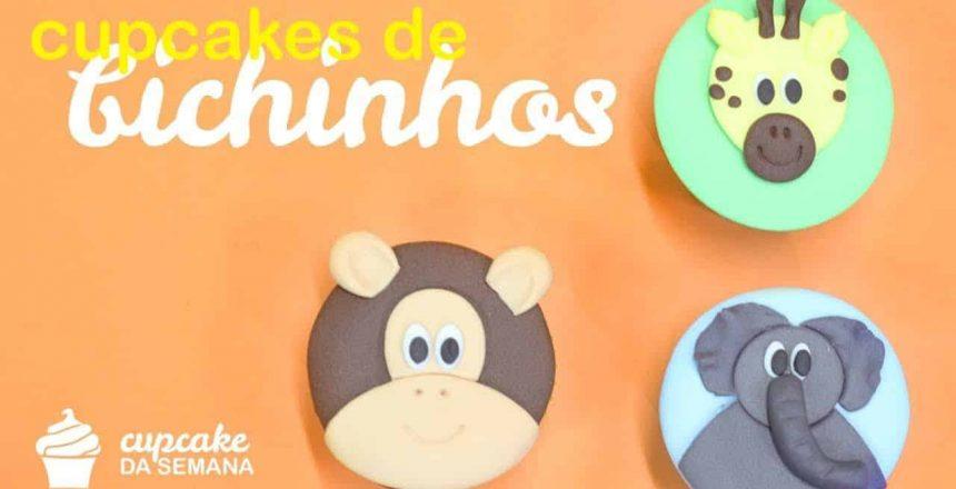 Cupcakes de Bichinhos(Macaco, Elefante e Girafa)