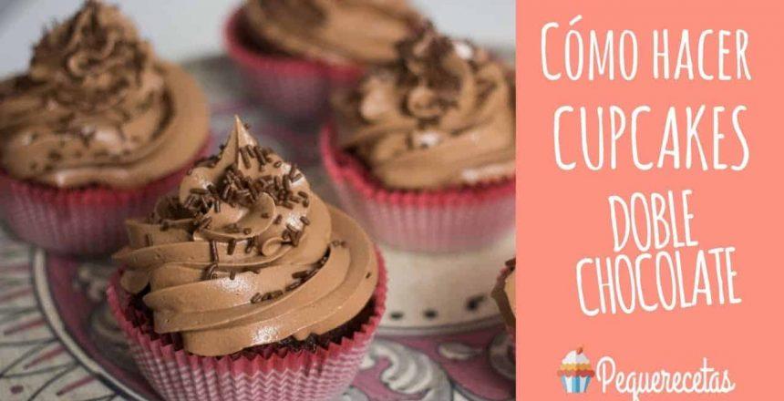 Cupcakes de chocolate. Receta de cupcakes doble chocolate