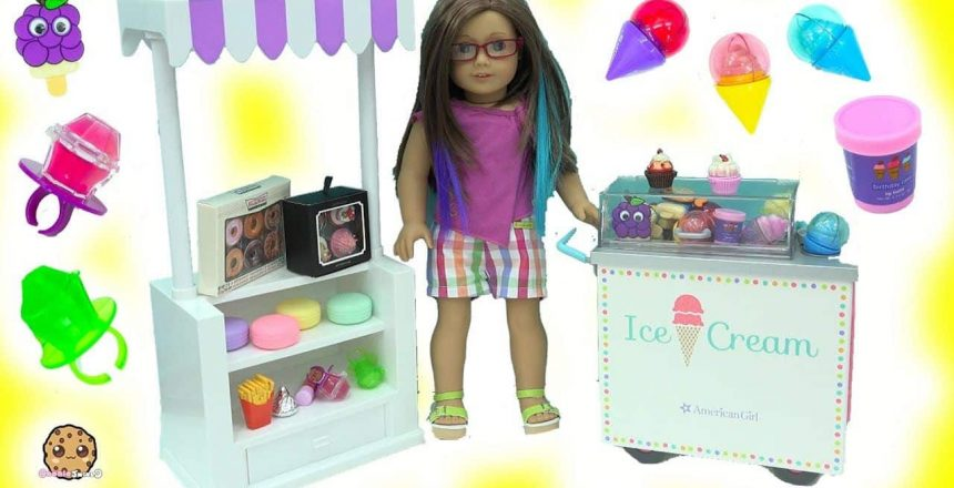 Cute Mini Scented Ice Cream + Cupcake Lip Gloss Makeup Haul with American Girl Doll