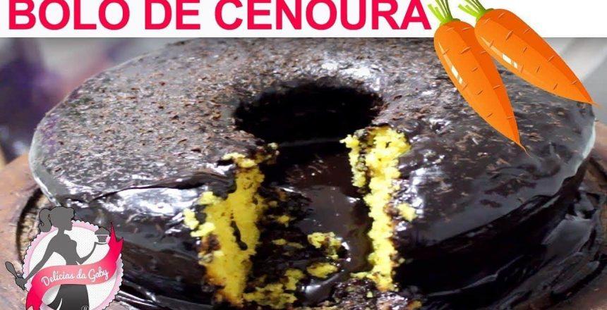 DELÍCIAS DA GABY - Bolo VULCÃO LOW CARB de cenoura