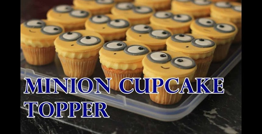 DESPICABLE ME EASY MINION FONDANT CUPCAKE TOPPER TUTORIAL | INTHEKITCHENWITHELISA