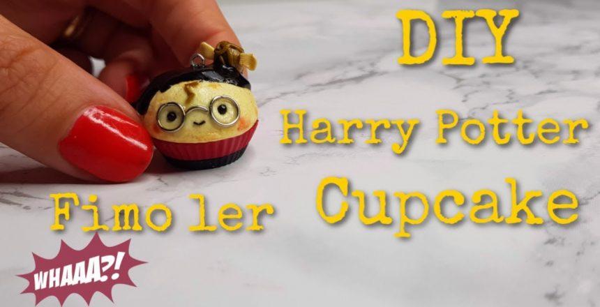 DIY Harry Potter cupcake i Fimo ler