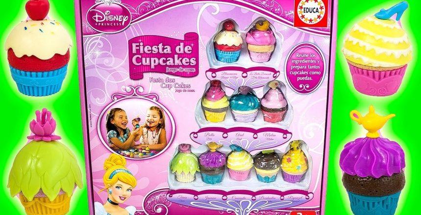 Disney Princess Cupcake Party Playset Make Cupcakes Set Juguetes de Princesas Toy Videos New HD