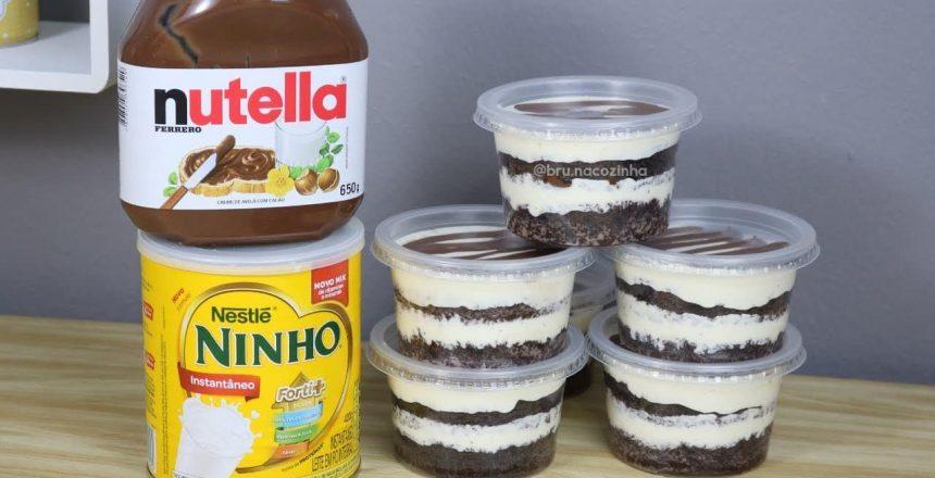 FAÇA E VENDA BOLO NO POTE LEITE NINHO COM NUTELLA - NINHO COM NUTELLA -  Bru na Cozinha