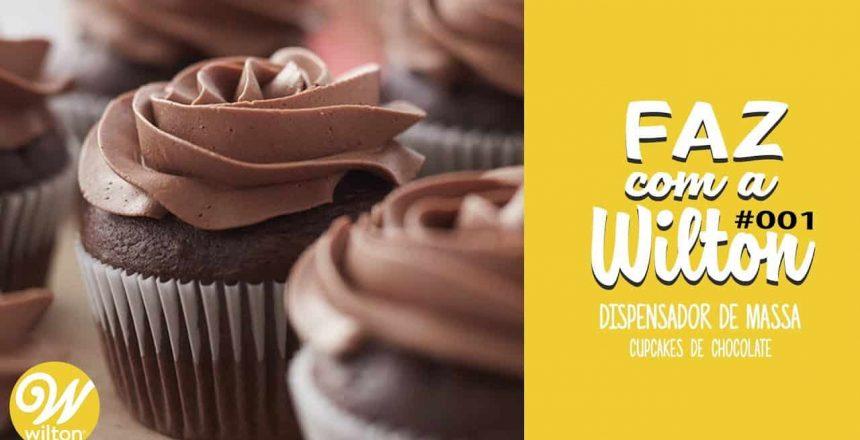Faz com a Wilton #001 - Cupcake de Chocolate com Bico Dosador Wilton
