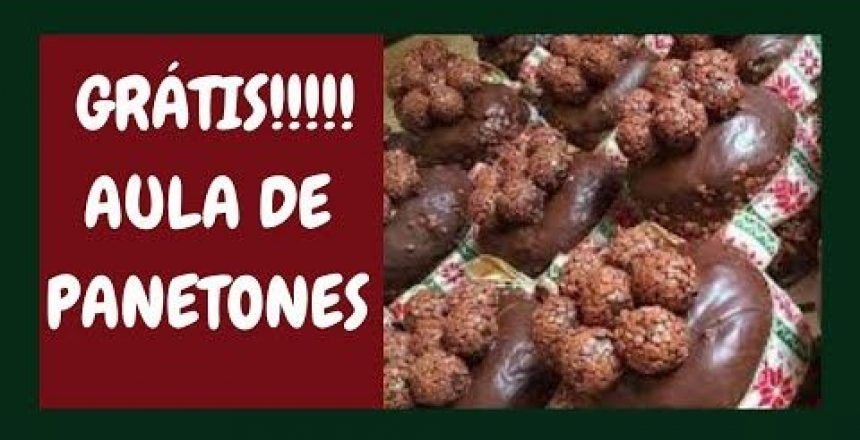 GRÁTIS!!!!!!!!!! AULA DE PANETONES  LUCRATIVOS - CAROL GOURMET