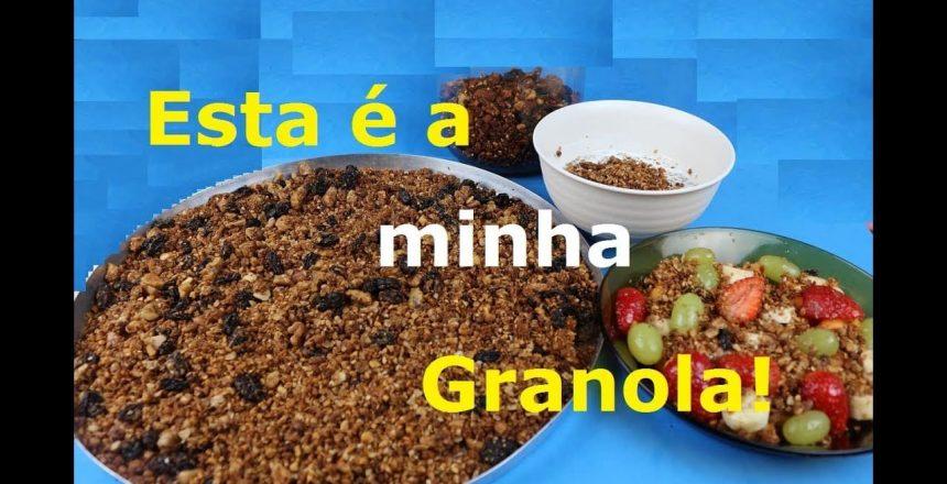 GRANOLA (Caseira, saudável, prática e rápida!)