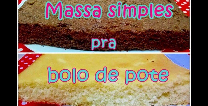 MASSA SIMPLES E FÁCIL PARA BOLO DE POTE (CHOCOLATE E BAUNILHA) - MIL DELÍCIAS NA COZINHA
