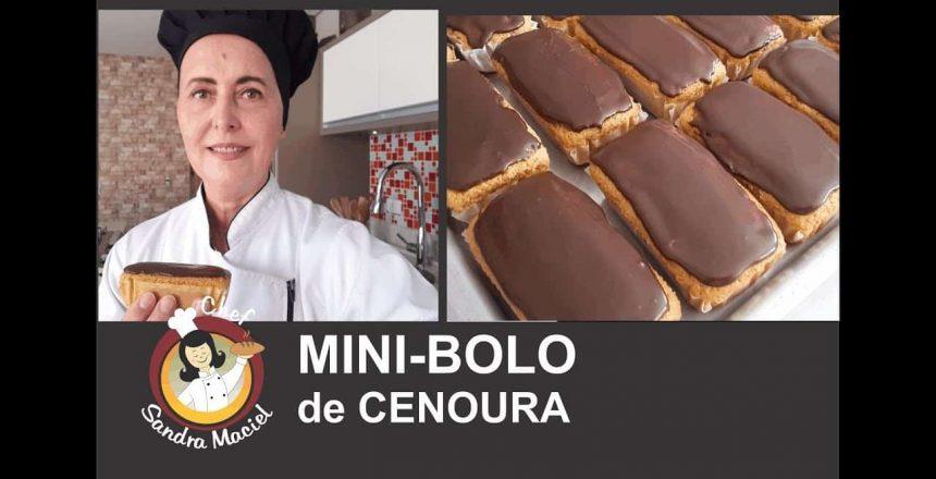 MINI-BOLO DE CENOURA SEM GLÚTEN E SEM LEITE!