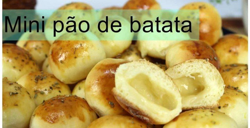 MINI PÃO DE BATATA RECHEADO Massa Super especial