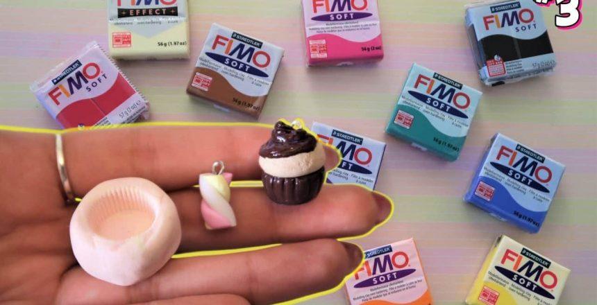 Marshmallow, Cupcake senza stampo + Stampo DIY - Fimo per Principianti #3