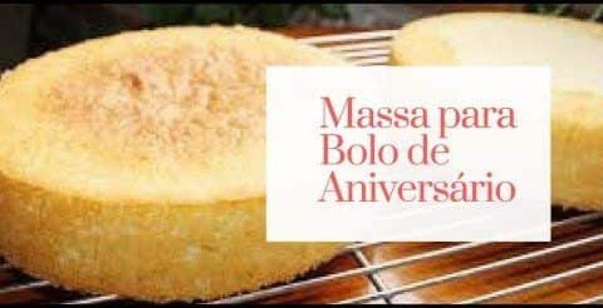 Massa para BOLO DE ANIVERSÁRIO ou BOLO NO POTE  #225