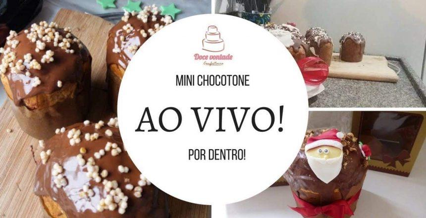 Mini Chocotone Recheado por dentro - Ao vivo