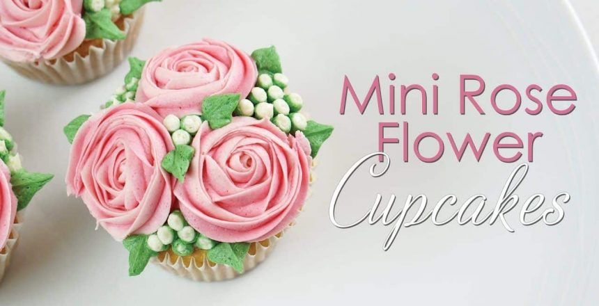 Mini Rose Flower Cupcake - Piping Technique Tutorial