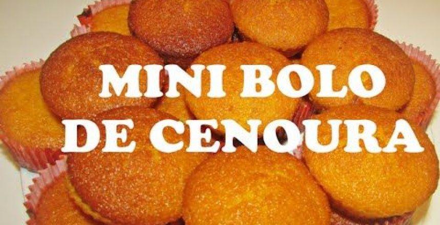 Mini bolo de cenoura - Cozinha da Nay