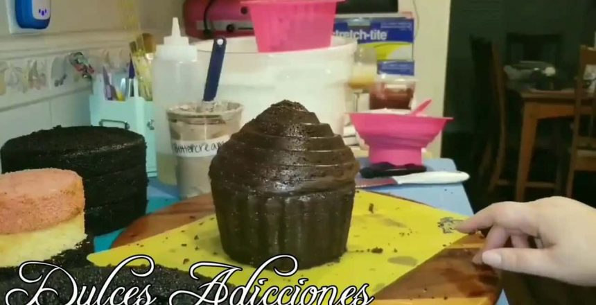 Mostrándoles el molde de cupcake gigante y otros tips