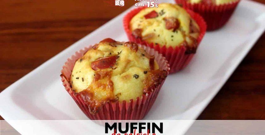 Muffin de Salsicha em 15 segundos