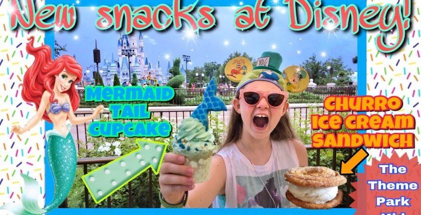 NEW Mermaid Cupcake & Churro Ice Cream Sandwich @ Magic Kingdom Quick Snacks Walt Disney World 2018