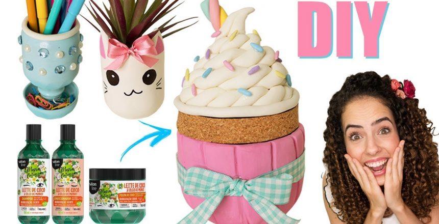 O LIXO MAIS FOFO DO MUNDO! RECICLANDO POTINHOS, cupcake, gatinho, porta lapis...