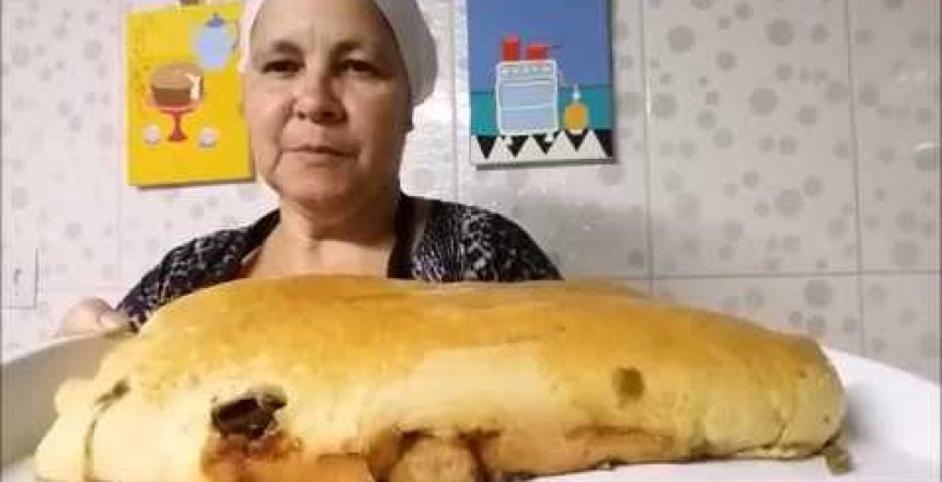 Pão recheado simples fácil rápido e delicioso