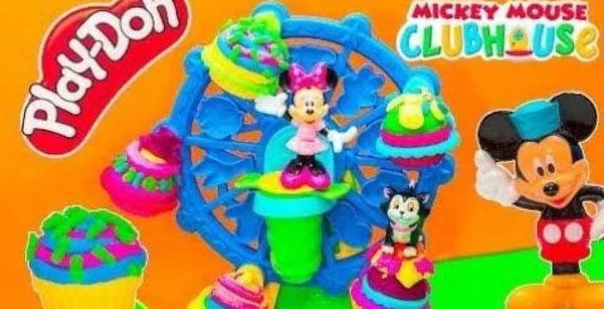 PLAY DOH Minnie Mouse Play Doh Cupcake Celebration Minnie's Birthday Party Video Toy Review ☜♥☞