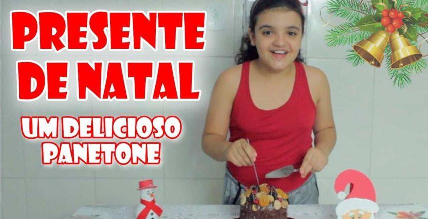 PRESENTE DE NATAL DELICIOSO - Panetone Trufado uma delícia - Amanda Mil Beijinhos