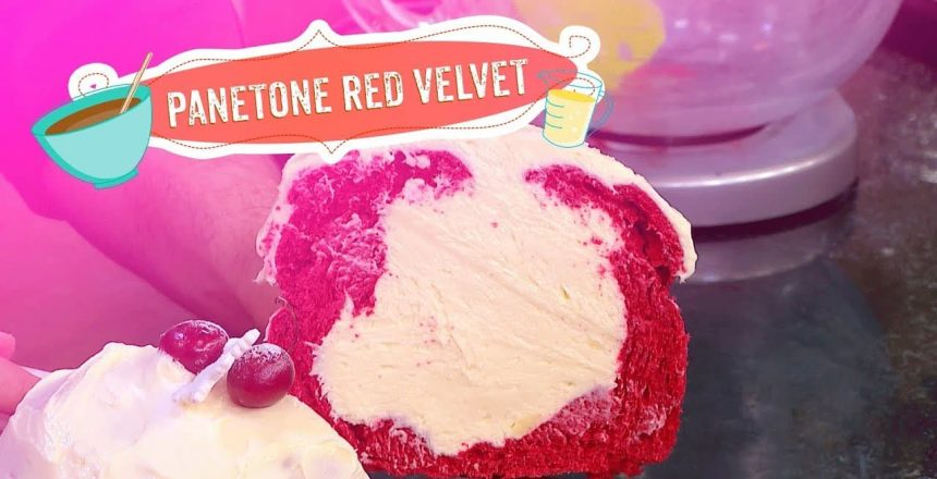 Panetone Red Velvet por Fernando de Oliveira
