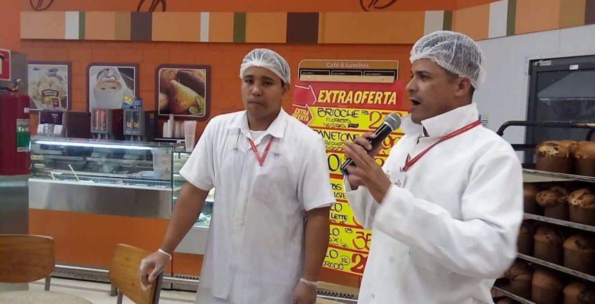 Panetones, dinâmica e degustação com Marcos Silva e Paulo Ricardo .