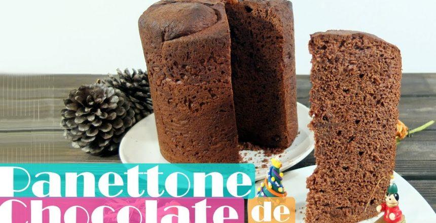 Panettone de chocolate jugoso y fácil