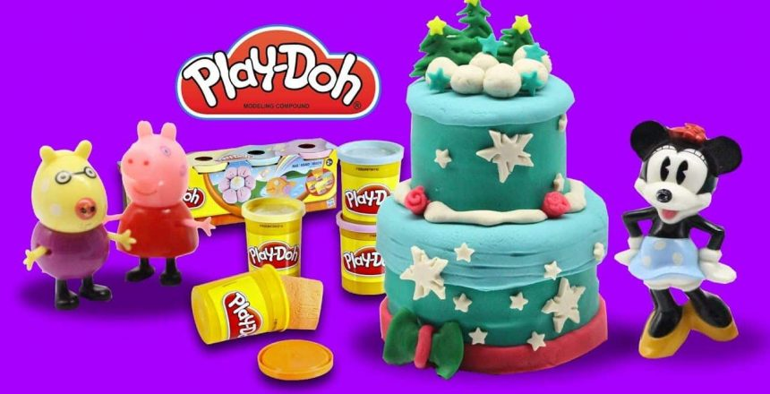 Play Doh Peppa Pig Cupcake Maker Christmas cake Dough Candy Container Playset by Funny Play doh